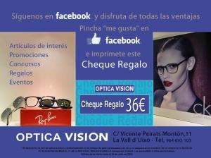 PROMOCION OPTICA VISION la vall FACEBOOK